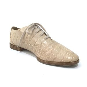 Alexander Wang Croc Leather Ingrid Oxford Shoes